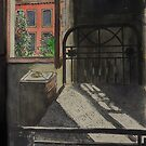 Postcard from Europe - Venice through the bedroom window by Gary Shaw
