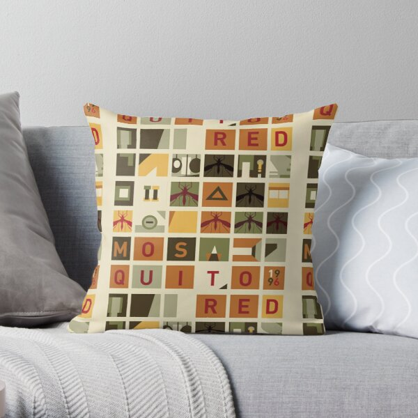 Red Mosquito Throw Pillow