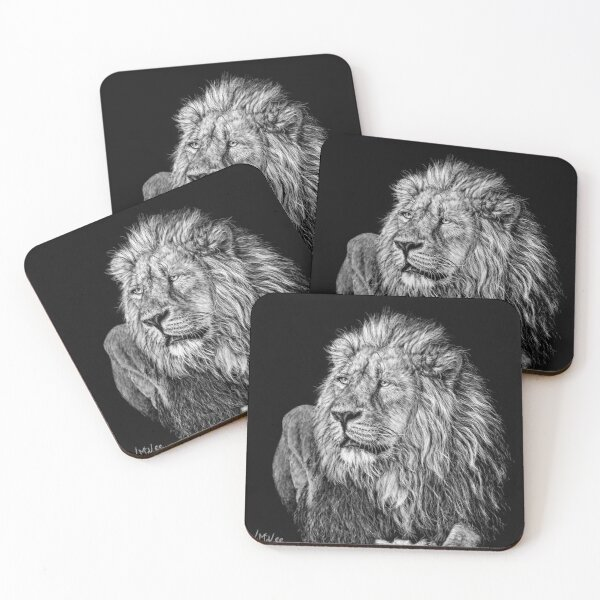 King of the Jungle Coasters (Set of 4)