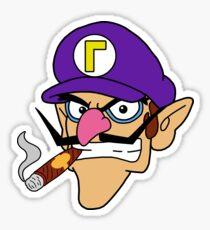 Waluigi Smoking a Cigar Sticker