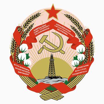 Socialist Azerbaijan Emblem by charlieshim