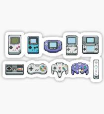 Nintendo consoles Sticker