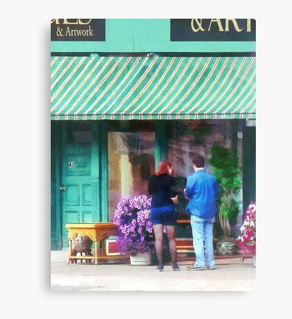 New York - Antique Shop Canandaigua NY Canvas Print