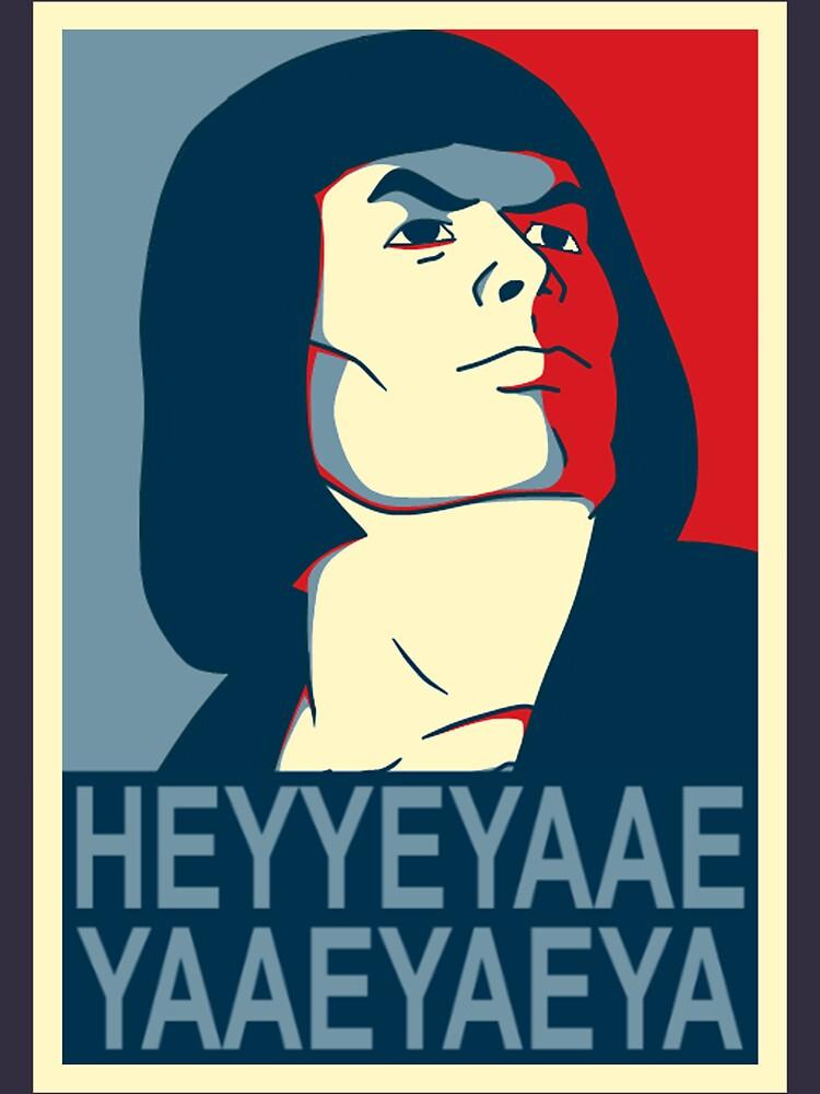 He-Man Heyyeyaaeyaaaeyaeyaa In Obama Hope Style | Unisex T-Shirt