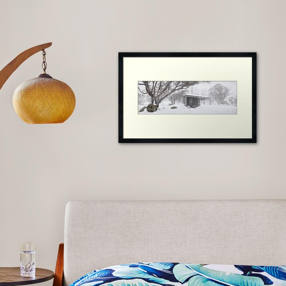 Pretty Valley Hut, Falls Creek, Victoria, Australia Framed Art Print