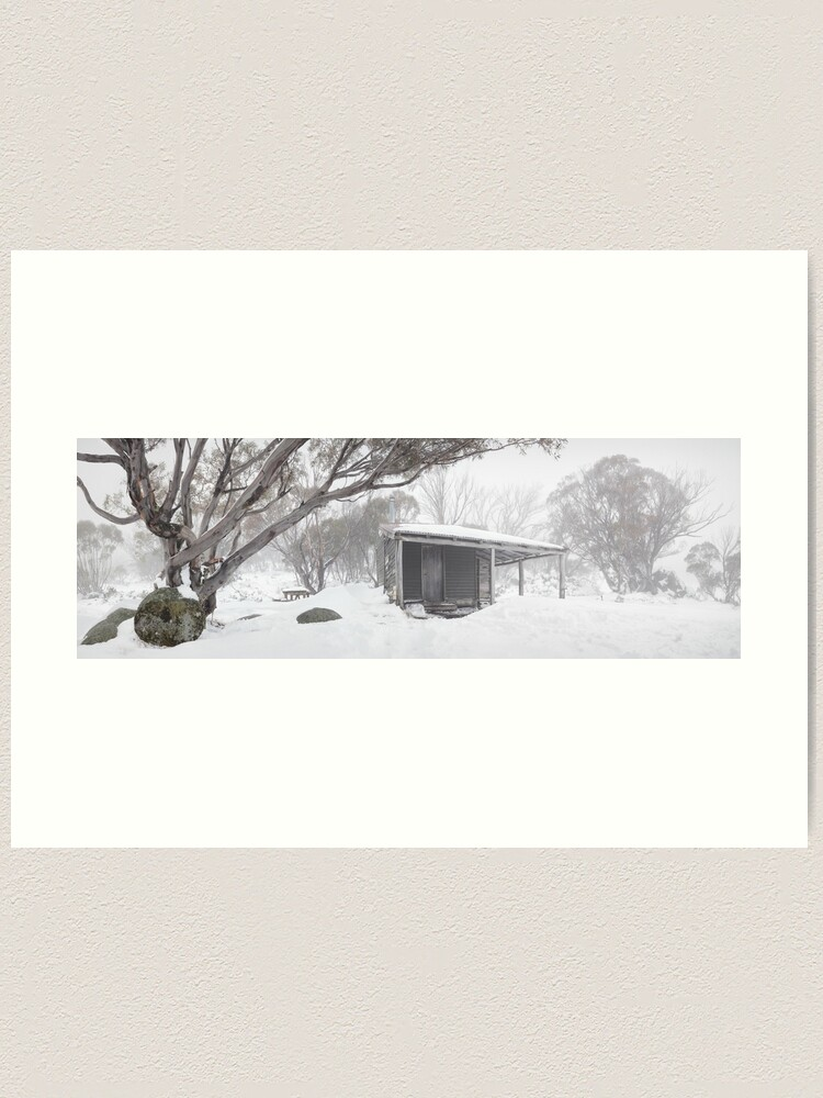 Alternate view of Pretty Valley Hut, Falls Creek, Victoria, Australia Art Print