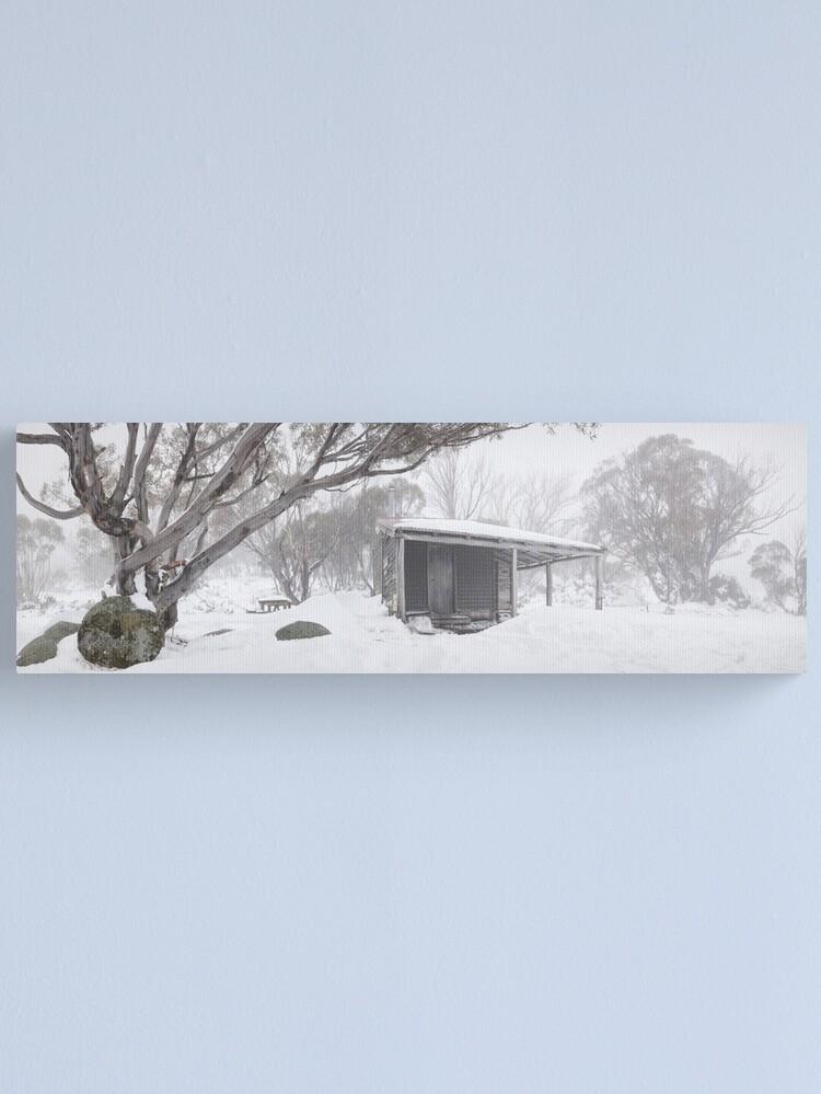 Alternate view of Pretty Valley Hut, Falls Creek, Victoria, Australia Canvas Print