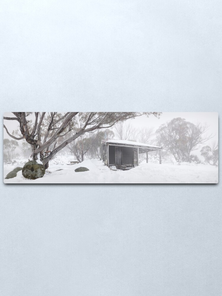 Alternate view of Pretty Valley Hut, Falls Creek, Victoria, Australia Metal Print