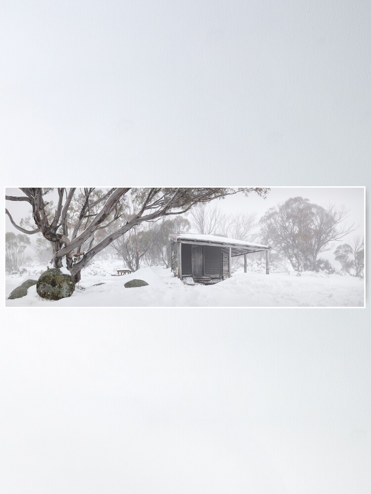 Alternate view of Pretty Valley Hut, Falls Creek, Victoria, Australia Poster