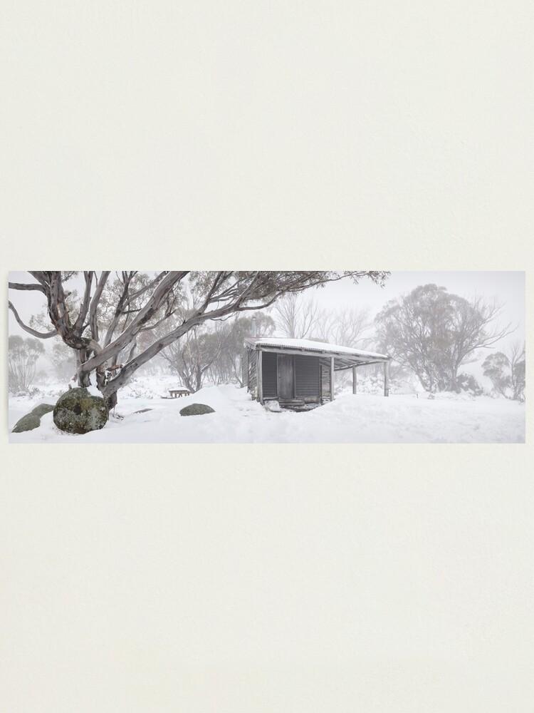 Alternate view of Pretty Valley Hut, Falls Creek, Victoria, Australia Photographic Print