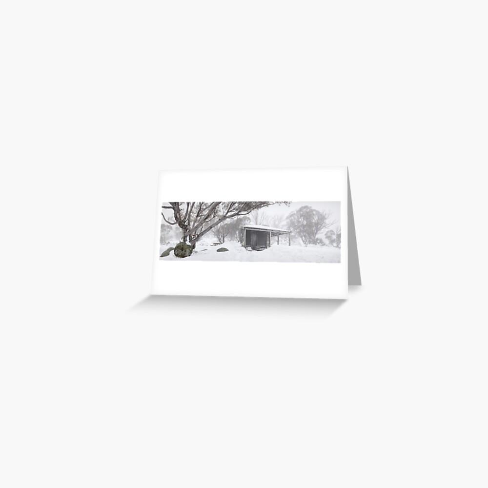 Pretty Valley Hut, Falls Creek, Victoria, Australia Greeting Card
