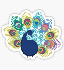 colorful modern peacock big feathers Sticker