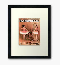 FASHIONETTE  (vintage illustration) Framed Print