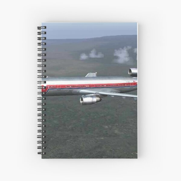 Western Airlines DC 10  Spiral Notebook