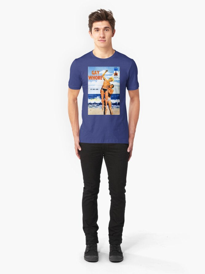 """Alternate view of """"Gay Whore"""" Slim Fit T-Shirt"""