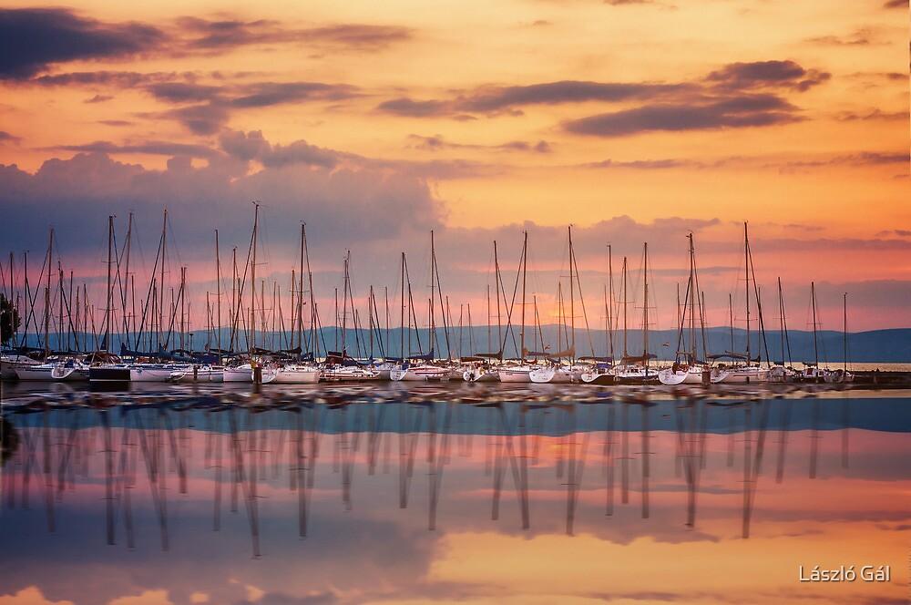 The magic of sunset by László Gál
