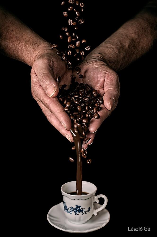 Making the coffee by László Gál