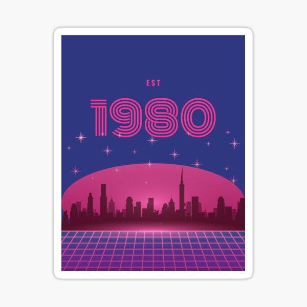 Established 1980 born in birth year Sticker