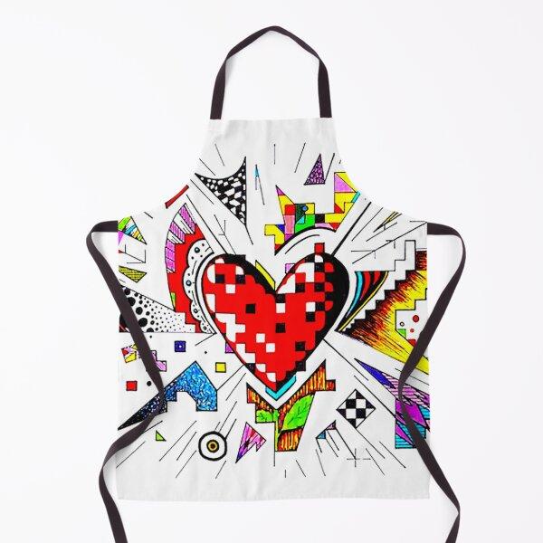 Heart Doodle Apron