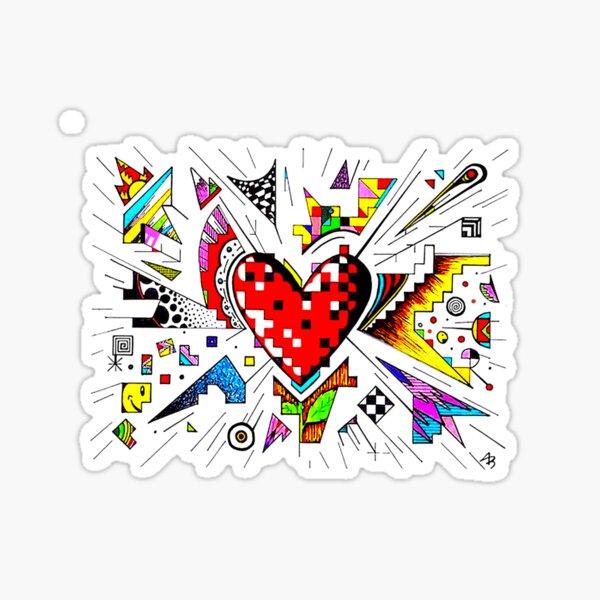 Heart Doodle Sticker