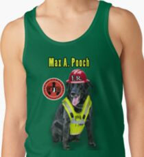 Max A. Pooch-Canine Community Reporter-Environmental Men's Tank Top