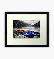 Which color will you take? Framed Print