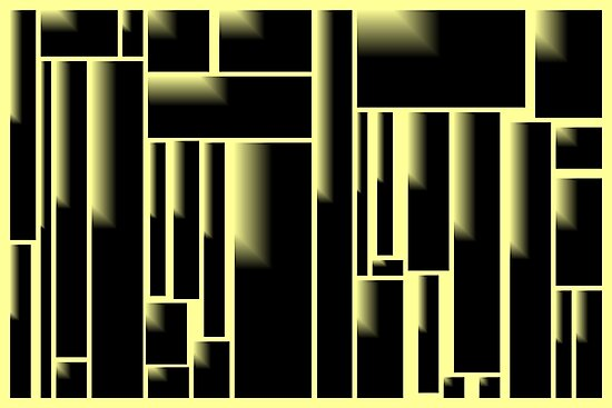 Cityscape Yellow by Mike Hodges