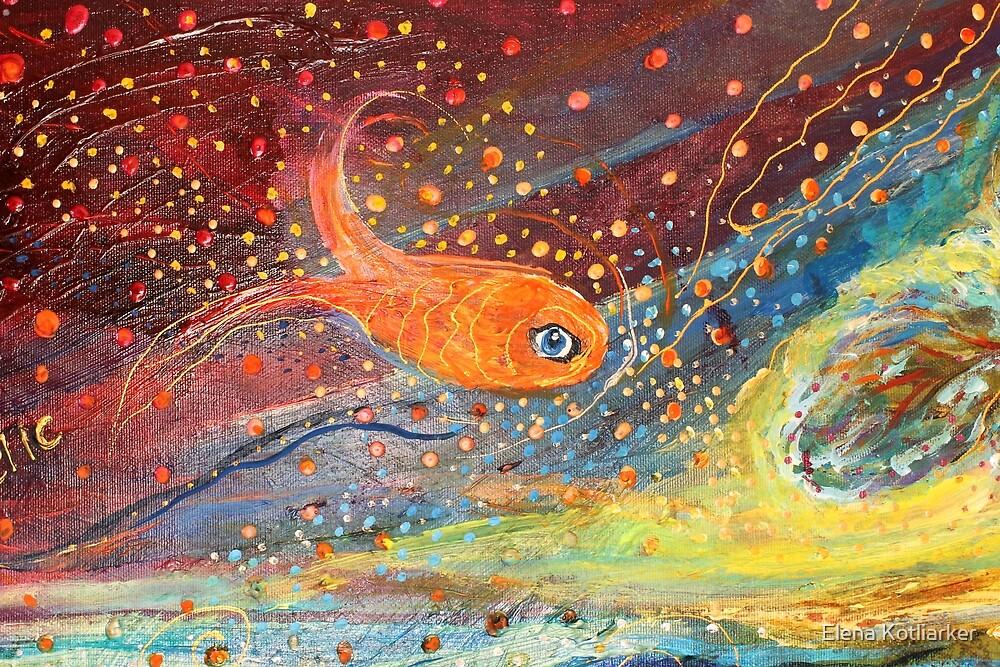 Original painting fragment 09 by Elena Kotliarker