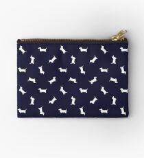 Bolso de mano Patrón de Dachshund - azul marino