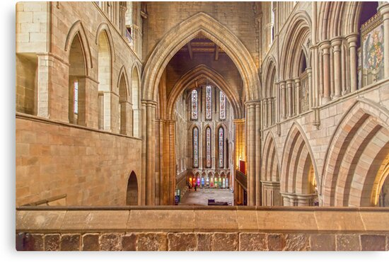 Hexham Abbey by David Patterson