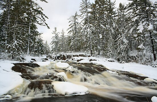 Cataract Dam Falls in Winter by Daniel Brown