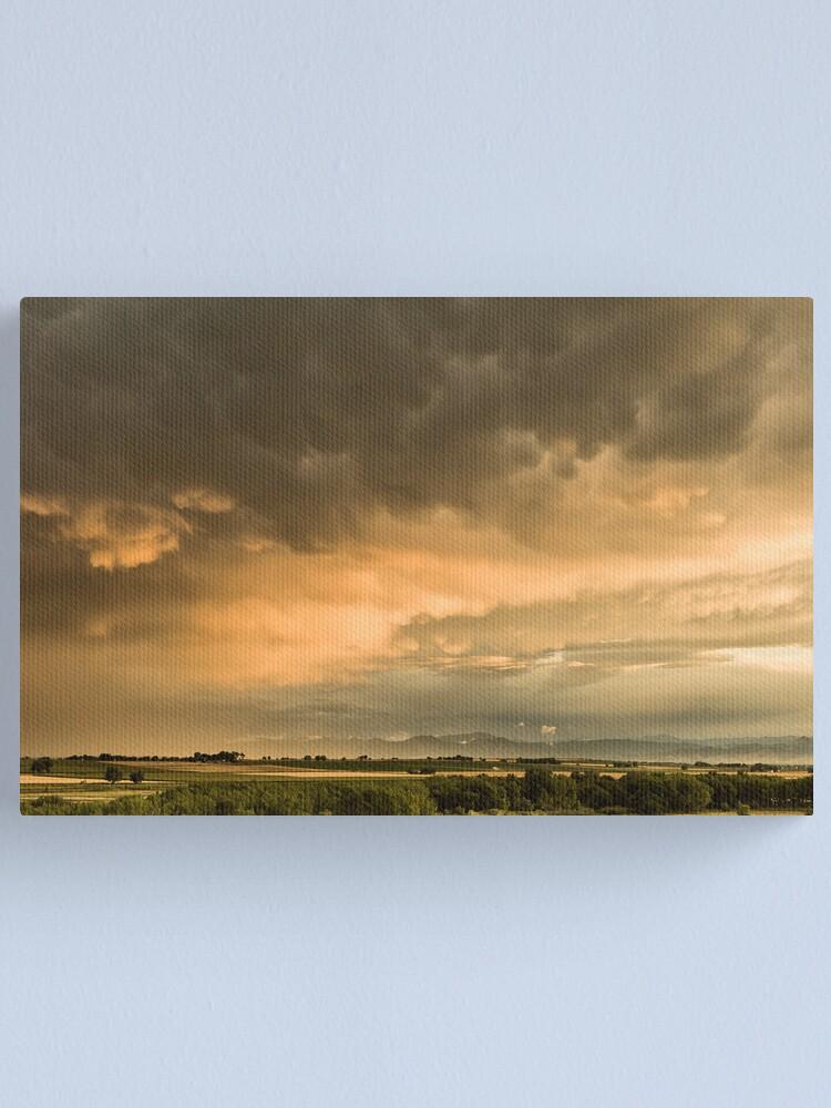Alternate view of Flight Across The Colorado Plains Canvas Print