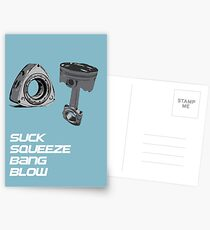 Mazda RX7 Rotary Piston Suck Squeeze Bang Blow Postcards