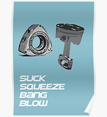 Mazda RX7 Rotary Piston Suck Squeeze Bang Blow Poster