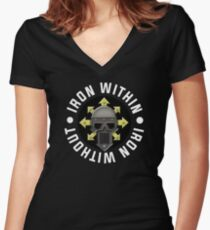 Iron Within, Iron Without Women's Fitted V-Neck T-Shirt