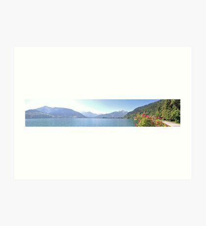 Zell Am See Lake: Panoramic Art Print