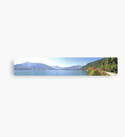 Zell Am See Lake: Panoramic Canvas Print