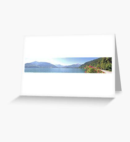 Zell Am See Lake: Panoramic Greeting Card