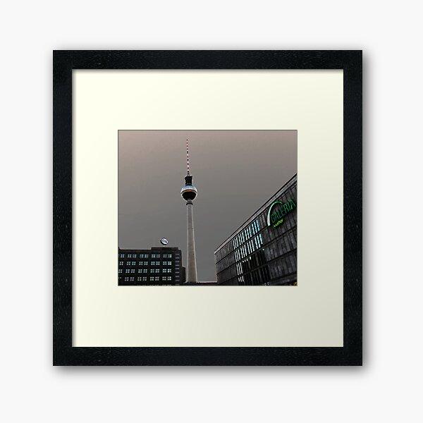 Berlin TV Tower - Berliner Fernsehturm Framed Art Print