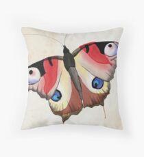 Buttafly! Throw Pillow