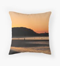 Cranes Beach at Sunset Throw Pillow