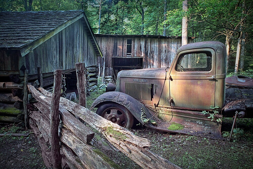 Old Farm Pickup Truck by Randall Nyhof