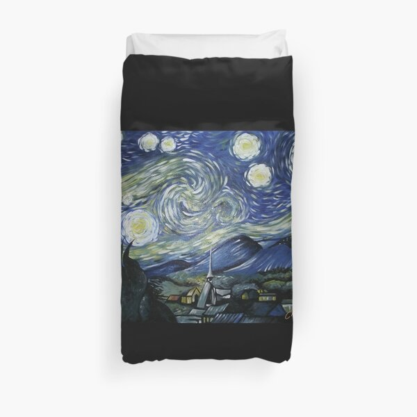Reproduction of Starry Night Duvet Cover