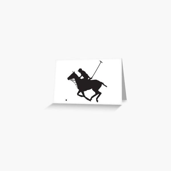 Polo Pony Silhouette Carte de vœux