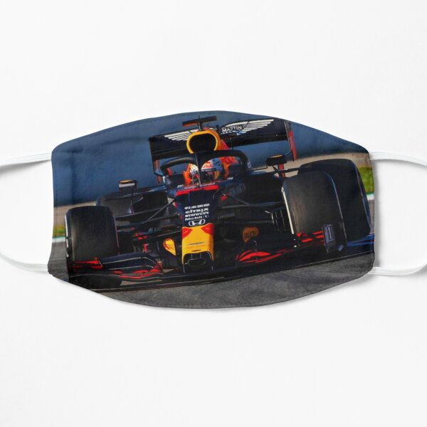Max Verstappen in the 2020 F1 car from the front Flat Mask