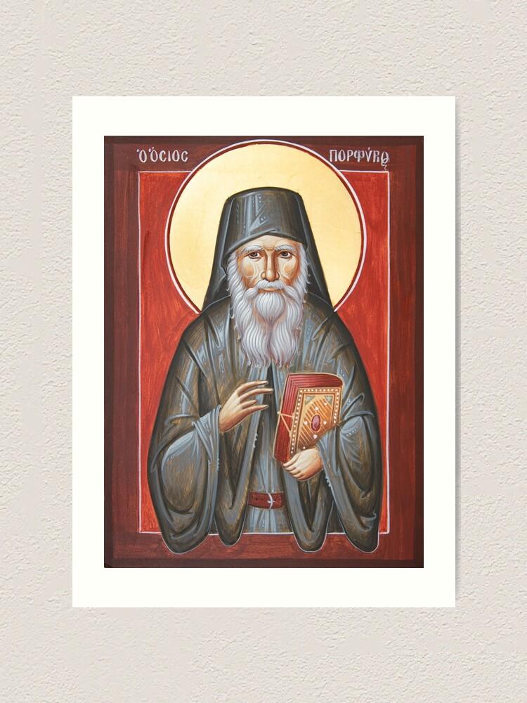 Alternate view of St Porphyrios Art Print