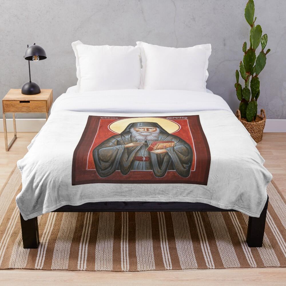 St Porphyrios Throw Blanket