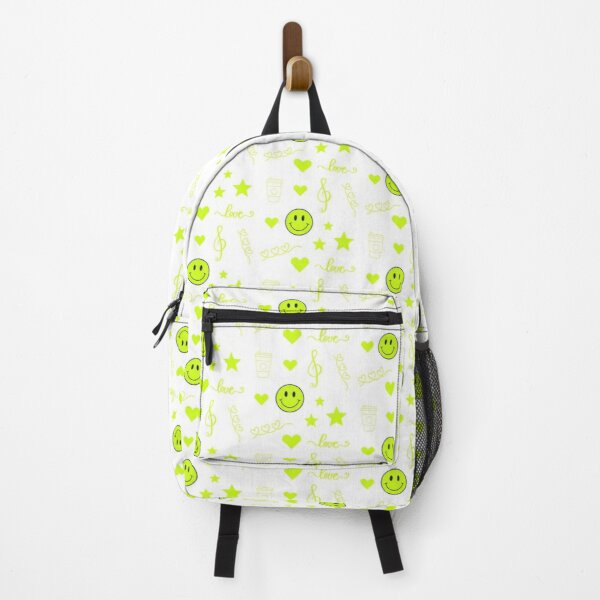 Neon Green Sticker Pack Backpack