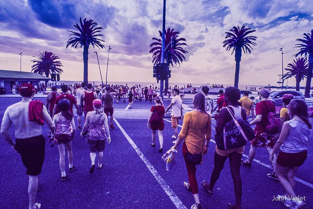 Melbourne Crowds by John Violet