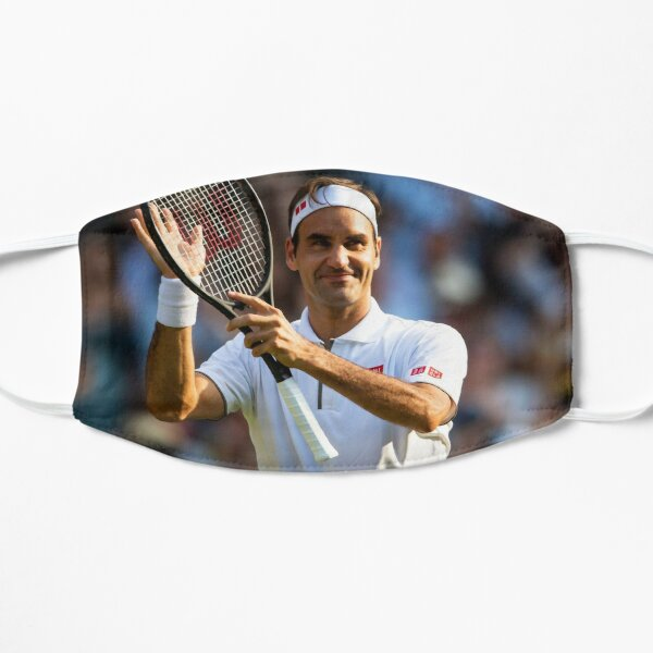 Roger Federer remercie la foule Masque sans plis